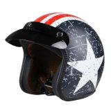 Шлем сбор винограда мотоцикла с сертификатом МНОГОТОЧИЯ для открытой стороны