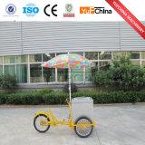 Nuevo carro móvil del helado del estilo con las ruedas para la venta