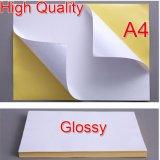 Etiqueta engomada de papel permanente de encargo del pegamento A4