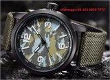 Reloj casual Quatrz guapo con correa de tela para hombres Hlfs423