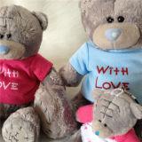 사랑 회색 질 패치 연약한 장난감 장난감 곰으로 있으십시오