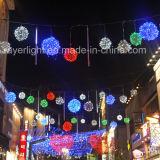 Luz do diodo emissor de luz do Natal da decoração da rua do governo