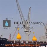 Sacos enchidos água do reator do teste de carga