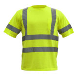 High-Visibility Safety Warning T-shirt réfléchissant en coton et polyester