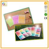 Etiqueta autoadhesiva de papel y plástica del pegamento de la impresión