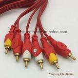 3RCA/3r Plug/Jack 3RCA/3r Plug/Jack AV/TV/DVD/VCD/Audio/Cable de los medios de comunicación (3R-3R)