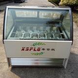 Gelatoの表示/Popsicleのショーケースかアイスクリームのフリーザー