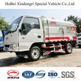 vrachtwagen van het Vervoer van het Huisvuil van het Vat van de Benzine van de Benzine JAC de Euro 5 van 2cbm Hangende