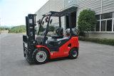 Tonelada LPG do Un 3.0 da nova série e Forklift do combustível do dobro do Forklift da gasolina com motor do GM