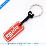 Anello chiave/catena di gomma poco costosi nel marchio personale