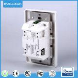 壁に取り付けられた調光器スイッチ、他を使用は可能にされた装置をZ振る