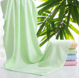 Горячая продажа сплошным цветом обычная плетение бамбук ванной полотенца для ванной