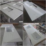 Salle de bains en pierre de quartz blanc conçu et comptoir de cuisine