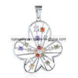 Tegenhanger van de Vlinder van de Juwelen van de Vlinder van het kristal de Zilveren
