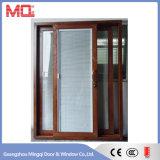 Porte coulissante triple en aluminium de balcon en verre