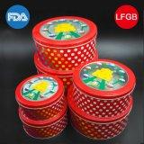 Heldere Rode Verpakkende Doos/de Doos van het Metaal/Huidige Doos voor Voedsel (R009-V1)