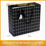 Черный бумажный мешок роскоши подарка