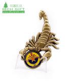 Metal personalizado em liga de artesanato 3D Brassed Vivas Loja arte espectaculares comemorativa de artesanato Scorpion Coin