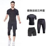 Wicking Breathable komprimierende Jersey Feuchtigkeit des Mannes Gymnastik-laufende Sportkleidung