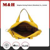 Große Kapazitätbewegliche gelbe Tote-Einkaufen-Frauen-Leder-Handtaschen