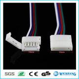 10mm 5pin de Kabel van de Schakelaar Solderless voor het 5050 LEIDENE RGBW Licht van de Strook