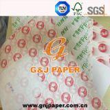 Grad Soem gedrucktes lichtdurchlässiges Pakcing Papier der Nahrung17-23gsm für Verkauf