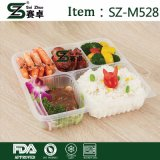 Contenitore di alimento di plastica a gettare dello scompartimento di grande capienza 5 di alta qualità con il coperchio