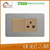 Aufgetragener Edelstahl-Dimmer-Schalter-Gebrauch für Haus