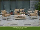 La Tabella di alluminio della mobilia esterna ha impostato per la Tabella pranzante e la presidenza del giardino dell'hotel