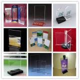 Triangle Menu acrylique rotatif Stand Brochure détenteur de plexiglas (BTR-H6048)