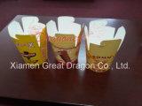 De Chinese/Aziatische MeeneemVakjes van het Voedsel van het Document met het Handvat van de Draad van het Metaal (gdnb-004)