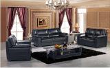 Le sofa en cuir moderne a placé pour le sofa de salle de séjour avec le cuir véritable