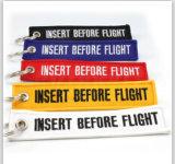 Custom Remover antes do voo Chaveiro de tecido para a promoção