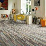 Surface en bois un revêtement de sol en vinyle pour salle de lecture