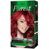 O creme o mais puro da cor do cabelo do uso da casa da amônia livre