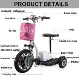 セリウムが付いている2018年の折る3つの車輪の電気スクーターの三輪車のオートバイの自転車
