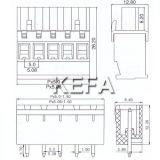 Клеммная колодка Plugable 5.0mm тона Kf2edgka-5.0