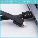 금에 의하여 도금되는 이더네트 아크 3D 4K 1.4 2.0 고속 HDMI 케이블