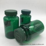 De lege Groene Plastic Fles van de Pil met Groen GLB, Softgel Container, de Fles van de Capsule