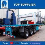 タイタンの三車軸4車軸20FT 40FT拡張可能な容器の容器ロックが付いている平面トラックのトレーラー