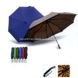 Настроенные автоматические откройте резиновую рукоятку 2 складной зонтик