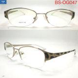 Telaio dell'ottica del metallo degli occhiali degli occhiali del blocco per grafici mezzo della stampa del leopardo con la cerniera della molla per le donne