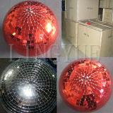 Esfera de vidro redonda de suspensão do Natal do estágio de RGBW