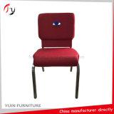 Hochwertigster eindrucksvoller praktischer roter Kirche-Stuhl mit Stickerei-Firmenzeichen (JC-138)