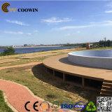Decking que graba profundo de China 3D WPC del café impermeable
