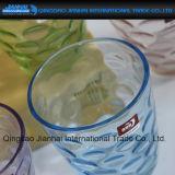 Taza de cristal del nuevo diseño colorido para el regalo o la decoración casera