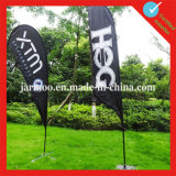 Изготовленный на заказ напольный флаг пляжа пера знамени индикации