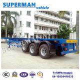 40FT Aanhangwagen van de Vrachtwagen van het Vervoer van de Container van het Gebruik van de haven de Semi