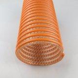 Boyau orange d'aspiration de PVC avec le renforcement par fibres
