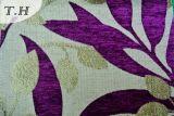 Modèle coloré de forme de lame de tissu de sofa de jacquard de Chenille